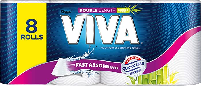 Viva Paper Towel, Double Length (Pack of 8)