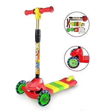 Fvino - Patinete infantil con 3 ruedas para niños y niñas de ...