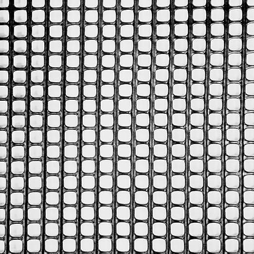 Suregreen Plástico Jardín Valla 1 m x 10 m Negro 5 mm Agujeros Verde Malla sólido Valla