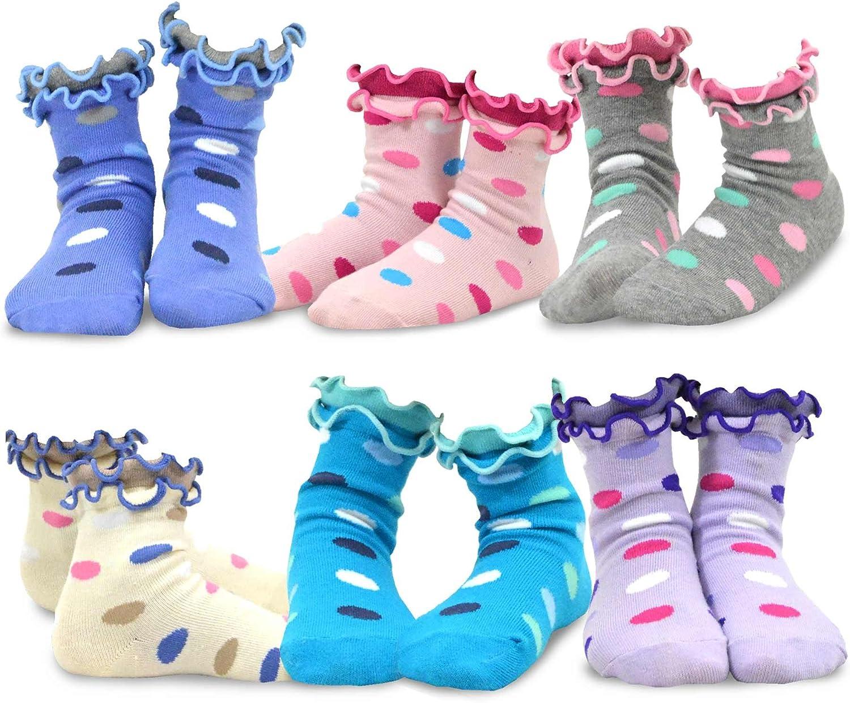 Kids Girls Cotton Roll Top Crew Socks 6 Pair Pack Naartjie TeeHee