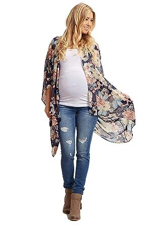 dde3522444a9 PinkBlush Maternity Floral Kimono at Amazon Women's Clothing store: