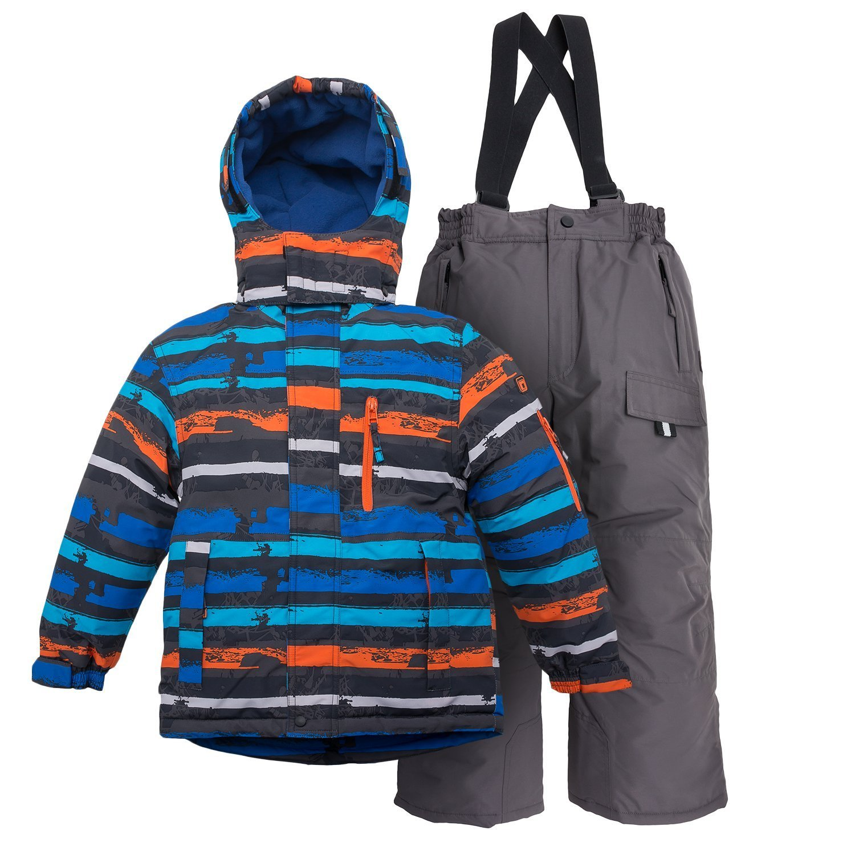 Outburst® Skianzug Schneeanzug Kinder Blau Orange Gr 98 - 140 Skijacke + Skihose