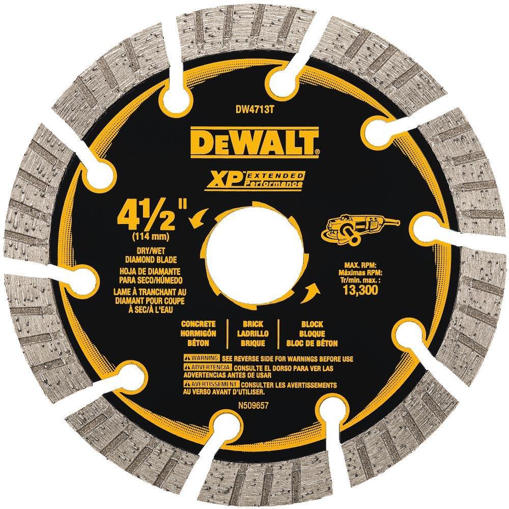 "DEWALT DW4713T 4-1/2"" XP Turbo Seg Diamond Blade"