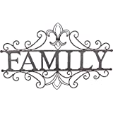 Young's Family Welcome Metal Wall Sign, 24.25-Inch