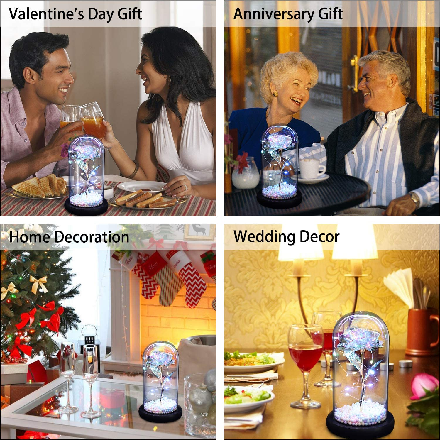 Plus the Word Art of Love is the Most Loved Gift for Valentines DayArtificial Proposal. Flowers Representing Permanent Love And Sweetness Among Couples,For Valentine/'s Day Wedding N/&T NIETING DIY Beautifully Packaged With Base and Led Lights