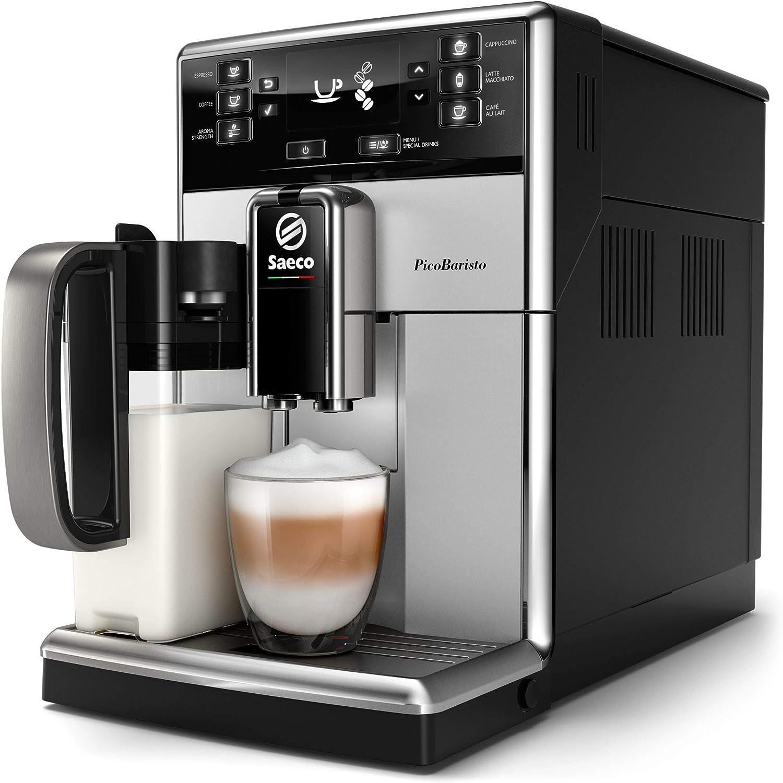 Saeco SM5471/10 - Cafetera (Independiente, Cafetera combinada, 1,8 L, De café molido, Negro, Plata): Amazon.es: Hogar