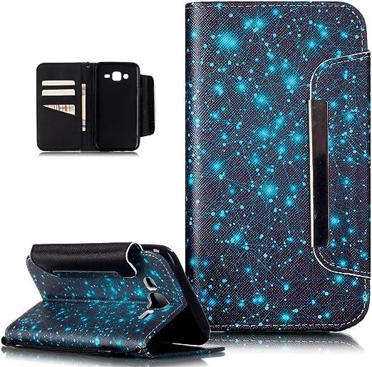 2015 Case Glitter SchutzH/ülle Wallet Case H/ülle Magnet Leder H/ülle -Schwarze Feder H/ülle f/ür Samsung Galaxy J5 2015 J500F Leder H/ülle J500F SchutzH/ülle Wallet Flip f/ür Samsung Galaxy J5
