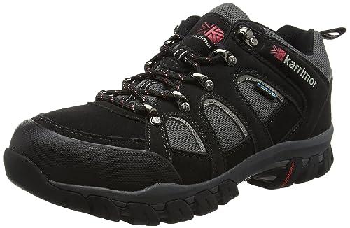 Womens Bodmin IV Weathertite Low Rise Hiking Shoes - Grey (Grey/Blue), 4 UKKarrimor