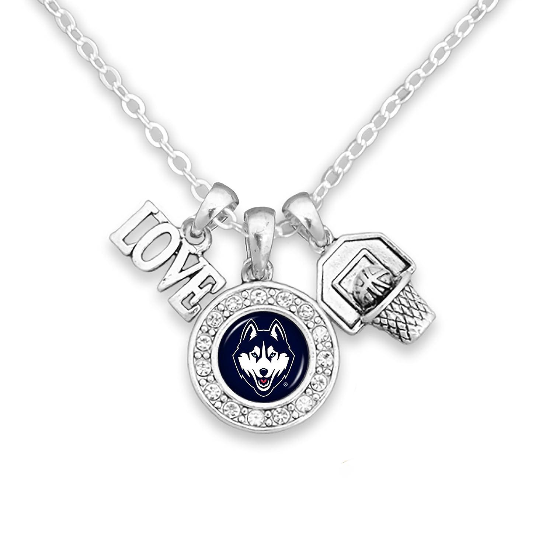 Connecticut Huskies cadena collar con three-charm Cluster: Amor ...