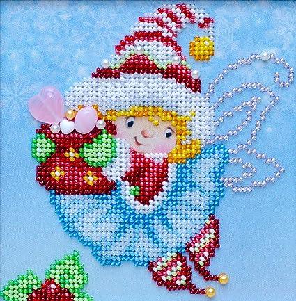 Amazoncom Christmas Miniature 1 Beads Embroidery Kit