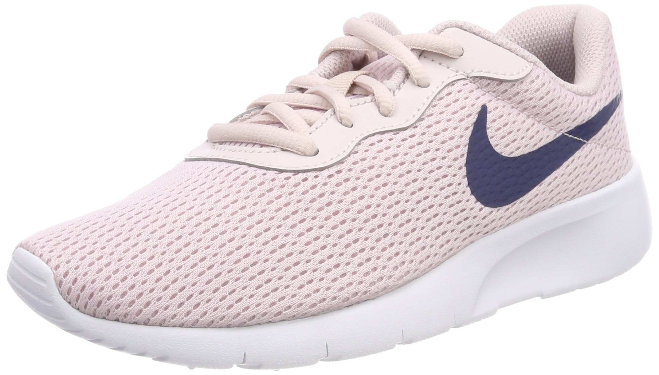Nike Girl's Tanjun Shoe Barely Rose/Navy/White Size 3.5 M US