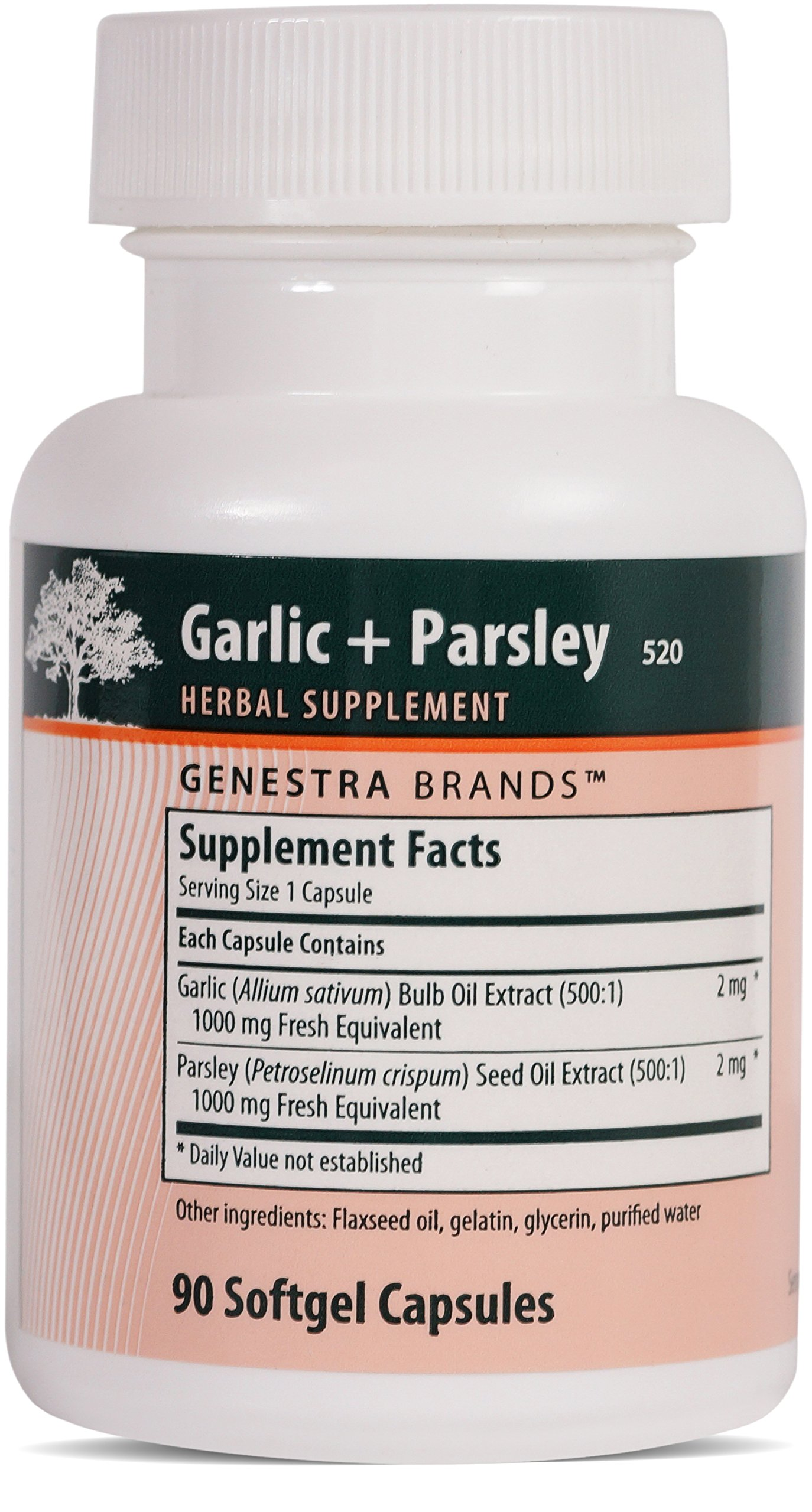 Genestra Brands - Garlic + Parsley - Unique Blend of Garlic and Parsley Oils - 90 Capsules