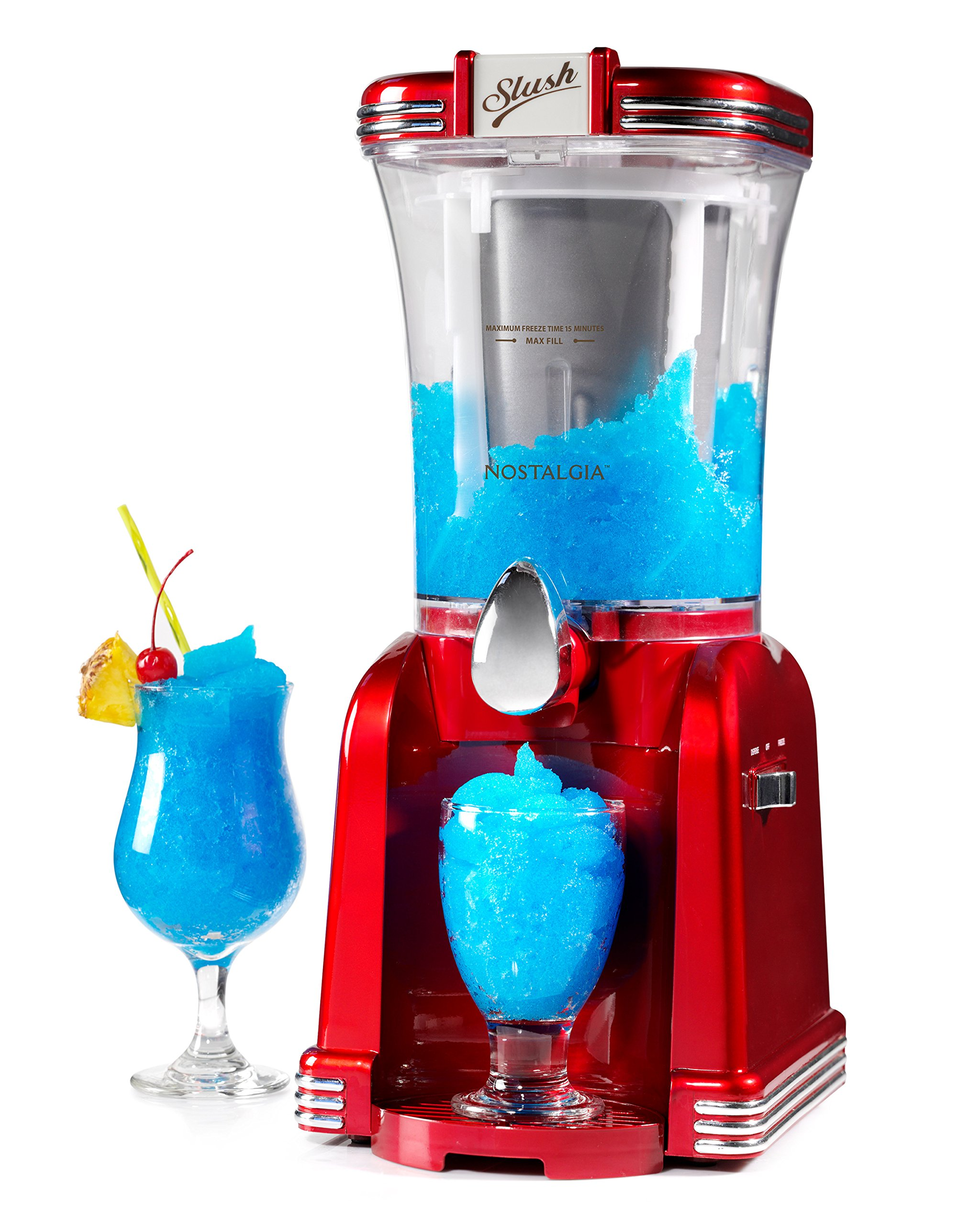 Nostalgia RSM650 32- Ounce Slush Drink Maker, Retro Red by NOSTALGIA