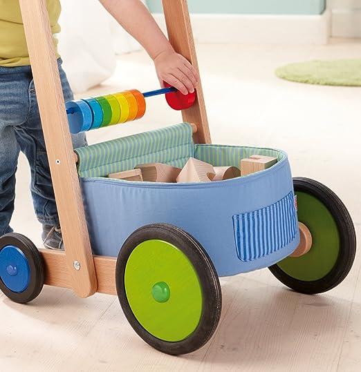 Amazon.com: Haba Color Fun Walker Wagon – Push Juguete con ...