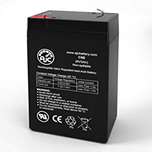 Jiming JM-6M4.5AC 6V 5Ah Sealed Lead Acid Battery - This is an AJC Brand Replacement