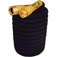 Pocket Hose New Top Brass Bullet by BulbHead No Kinking or Leaking with Solid Brass Connector, Expandable Lightweight Compact for Easy Storage