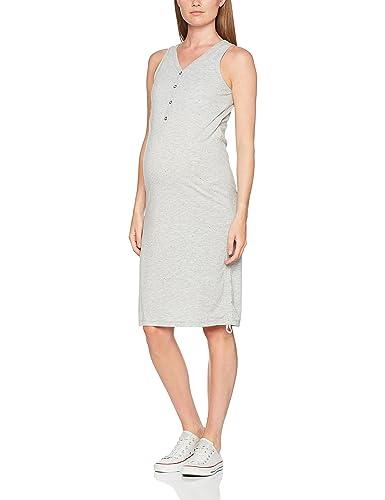 MAMALICIOUS Mlanillia Lia S/L Jersey Dress Nf, Vestido para Mujer