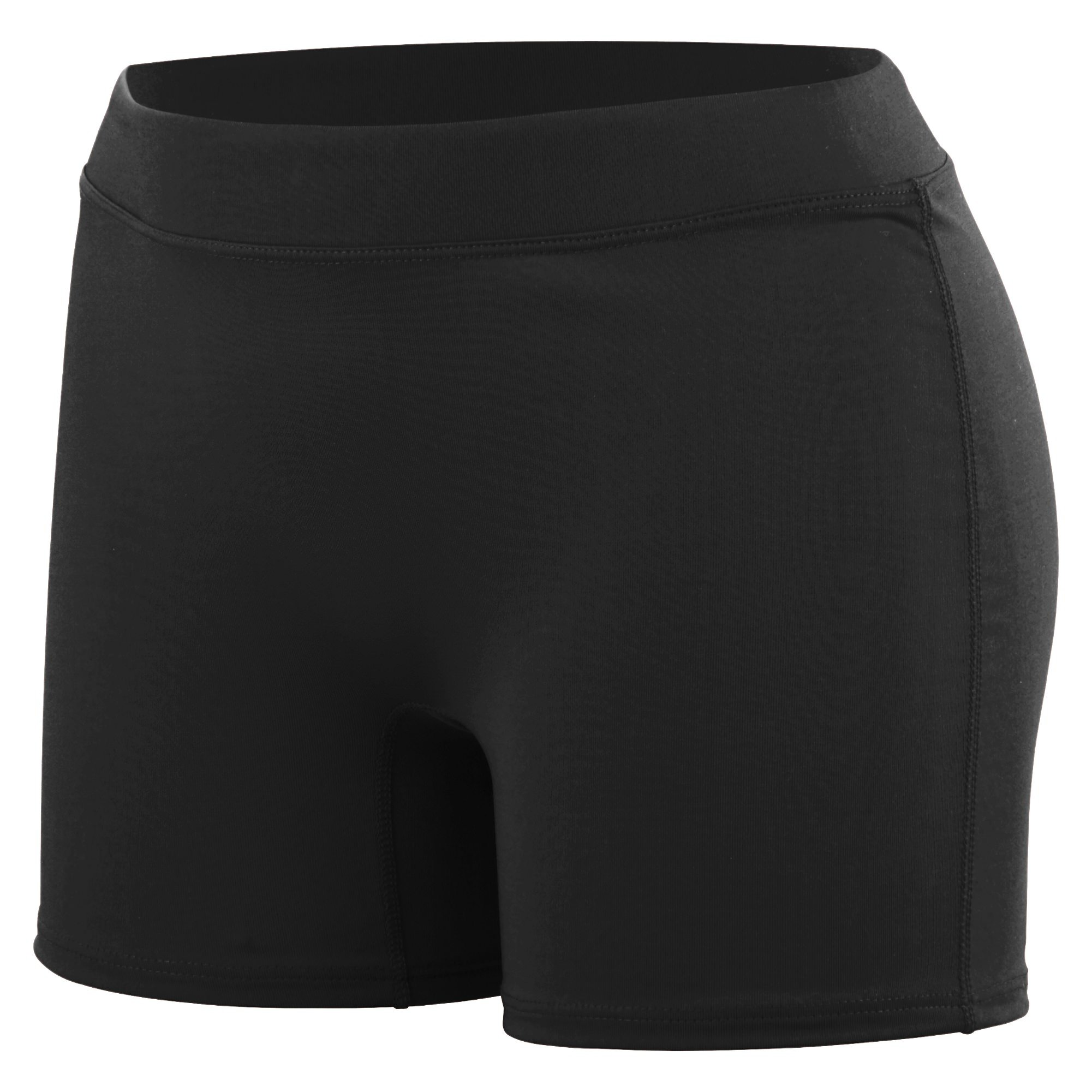 Augusta Sportswear Women's Enthuse Volleyball Shorts, Black, Medium