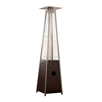 Superb AZ Patio Heaters Patio Heater, Quartz Glass Tube In Hammered Bronze