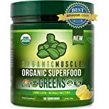 Organic Superfood Greens | #1 Super Greens Powder | Green Juice Supplement for Energy, Detox, Immune & Gut Health w/Pre & Pro