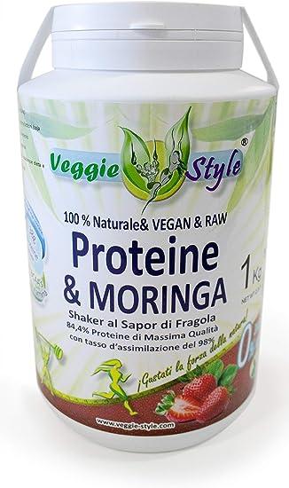Proteina + Moringa - 1Kg - Sabor Fresa: Amazon.es: Salud y ...