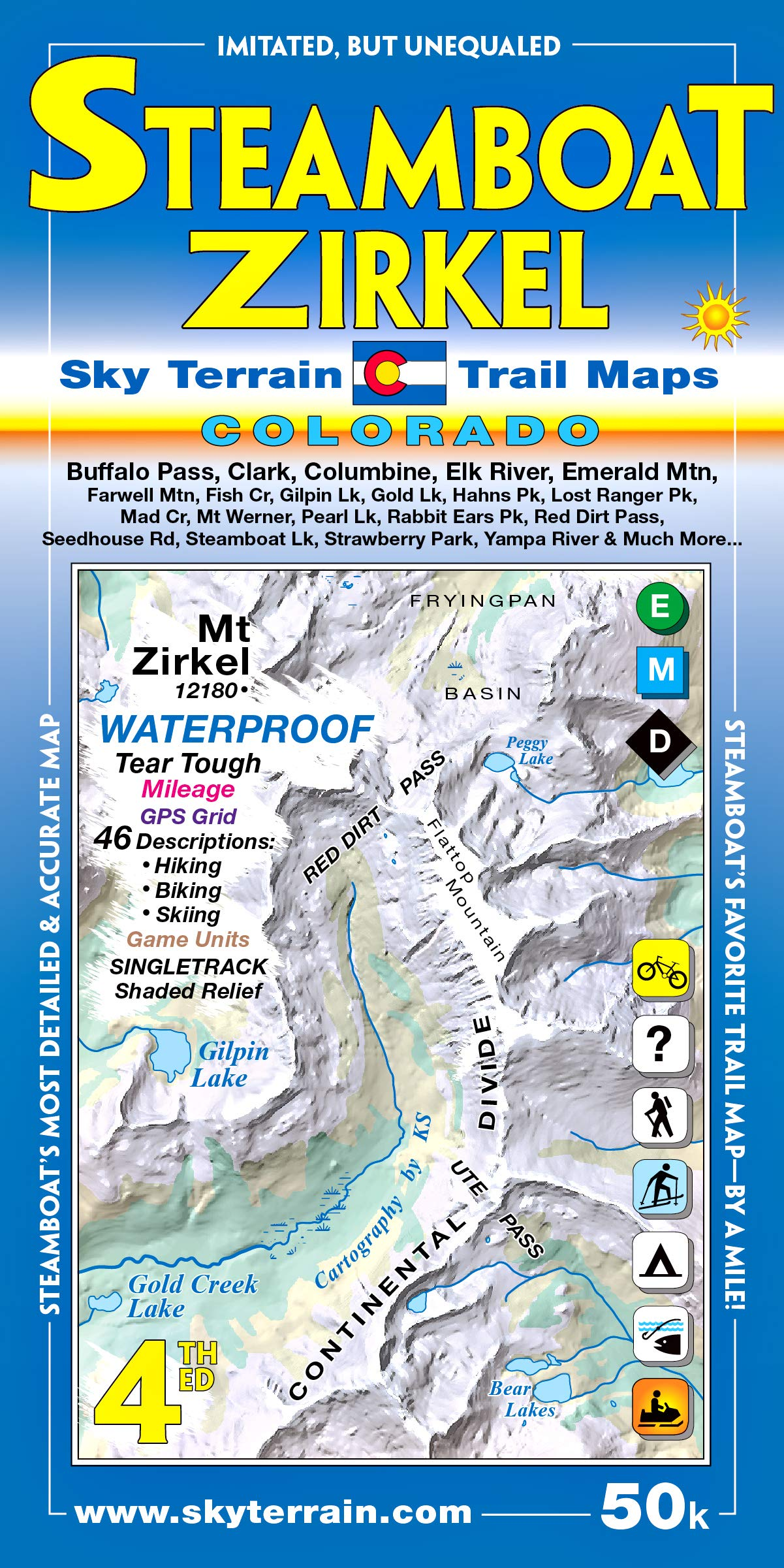 Steamboat Springs Mount Zirkel Trail Map 3rd Edition: Sky Terrain ...