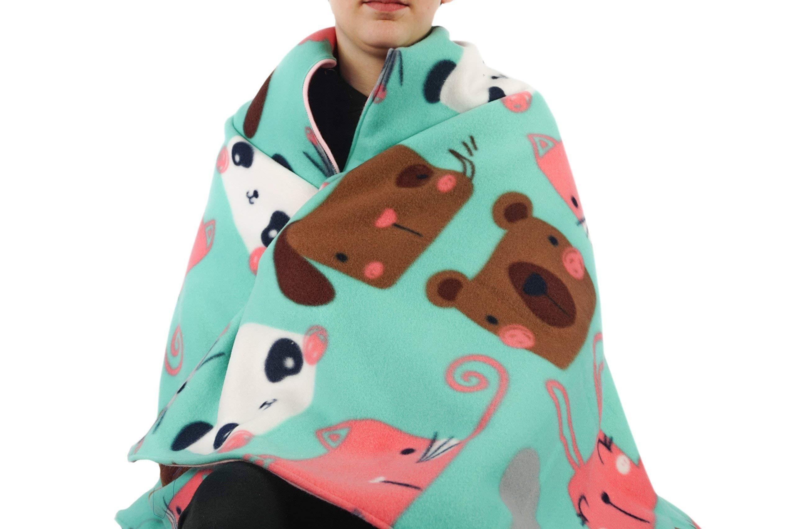 Fleece throw blanket- Furry Friends
