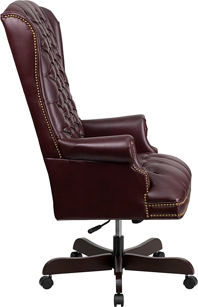 Flash Furniture Ci 360 By Gg High Back Traditional Tufted Burgundy Leather Ebyecutive Office Chair Amazon Ca Home Kitchen