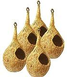 ZENRISE BN03 Coco Fiber Bird Nest House (Beige) - Pack of 5