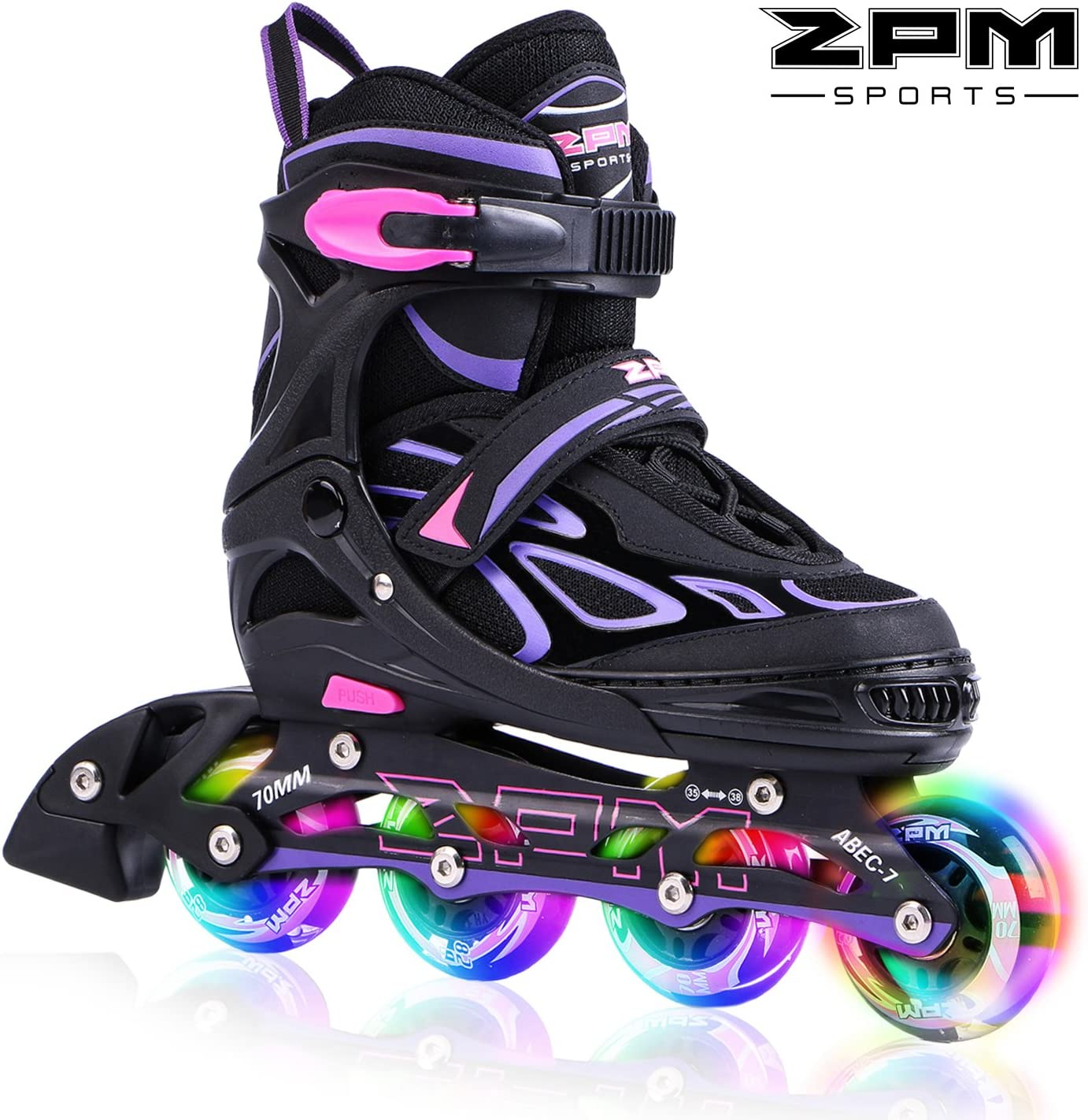 2pm Sports Adjustable Light up Kid Inline Skates,Roller Blades for Boys and Girls / UK