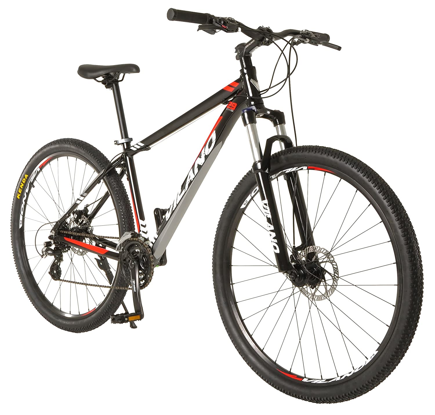 image of black and red vilano mtb