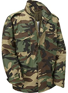 1048260b1135d M65 Military Field Jacket With Removable Quilted Inner Liner-Woodland  Camouflage