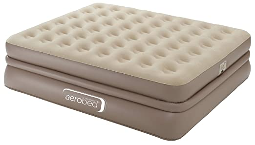 Aerobed Unisex Luxury Collection Raised - Cama de Aire con Bomba eléctrica incorporada, Color Beige: Amazon.es: Deportes y aire libre