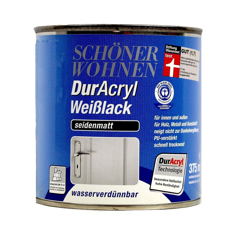 0, 125L Schö ner Wohnen Duracryl Weiß lack sm Weisslack Lack weiss J. D. Flügger