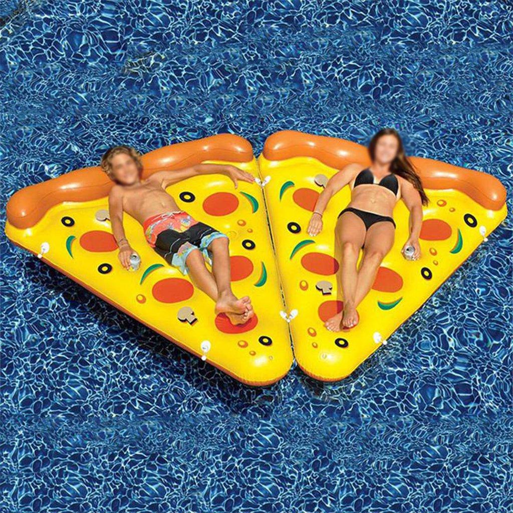 WLWWY Boya De Vida Gigante Inflable De La Pizza, Piscina Al Aire Libre Cama De Lujo Flotante del Salón del Flotador con Las Válvulas Rápidas para Los ...