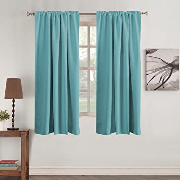 Amazoncom Turquoize Color Aqua Curtains Thermal Insulated Blackout