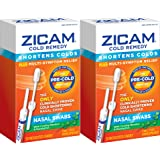 Cold Remedy Nasal Swabs, 20 Count, Cold-Shortening Nasal Swabs Clinically Proven to Shorten Colds, 2 Count