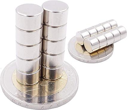 Piccoli ed Extra potenti Grado Magnetico N52 magneti in neodimio Ultra potenti Brudazon 100 Mini Magneti Dischi da 6x3mm magneti per modellismo
