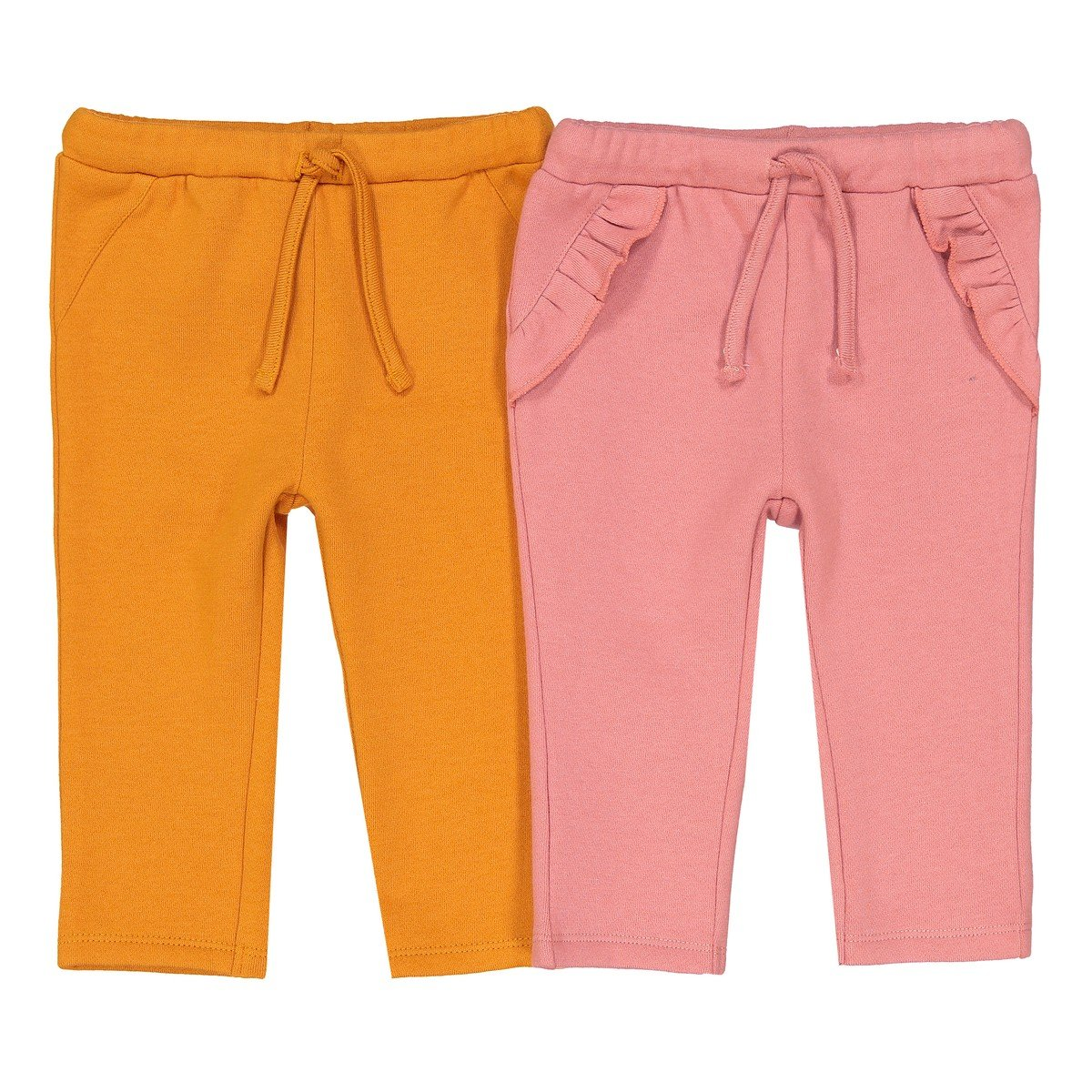 1 Month-3 Years La Redoute Collections Big Girls Pack of 2 Plain Trousers