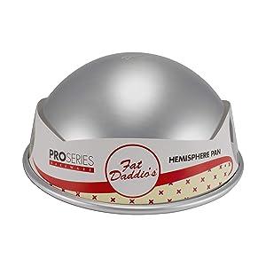 "Fat Daddios PHA-9 Hemisphere Pan, 9"" w, Silver"