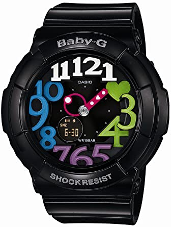 7d9bb059f91d Amazon.com: Casio Baby-G Neon Dial Series Women's Watch BGA-131-1B2JF  (Japan Import): Watches