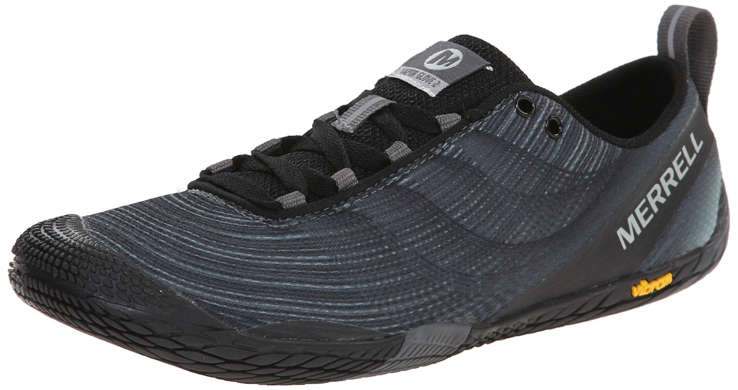 Merrell Women's Vapor Glove 2 Trail Running Shoe, Black/Castle Rock, 5 M US