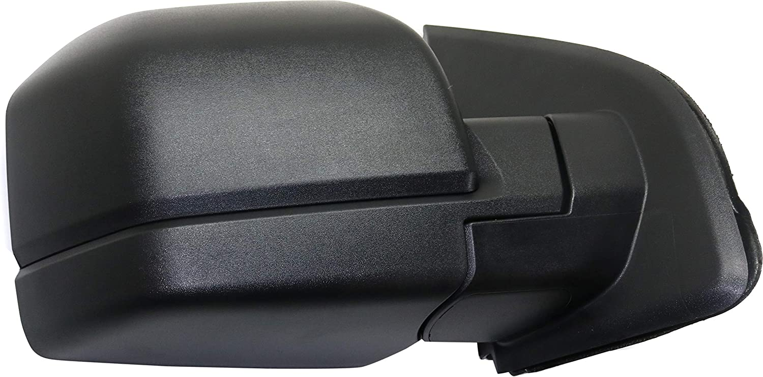 Mirror Compatible with 2015-2018 Ford F150 Manual Manual Folding with Blnd Spt Glss All Cab Types Textured Black Passenger Side