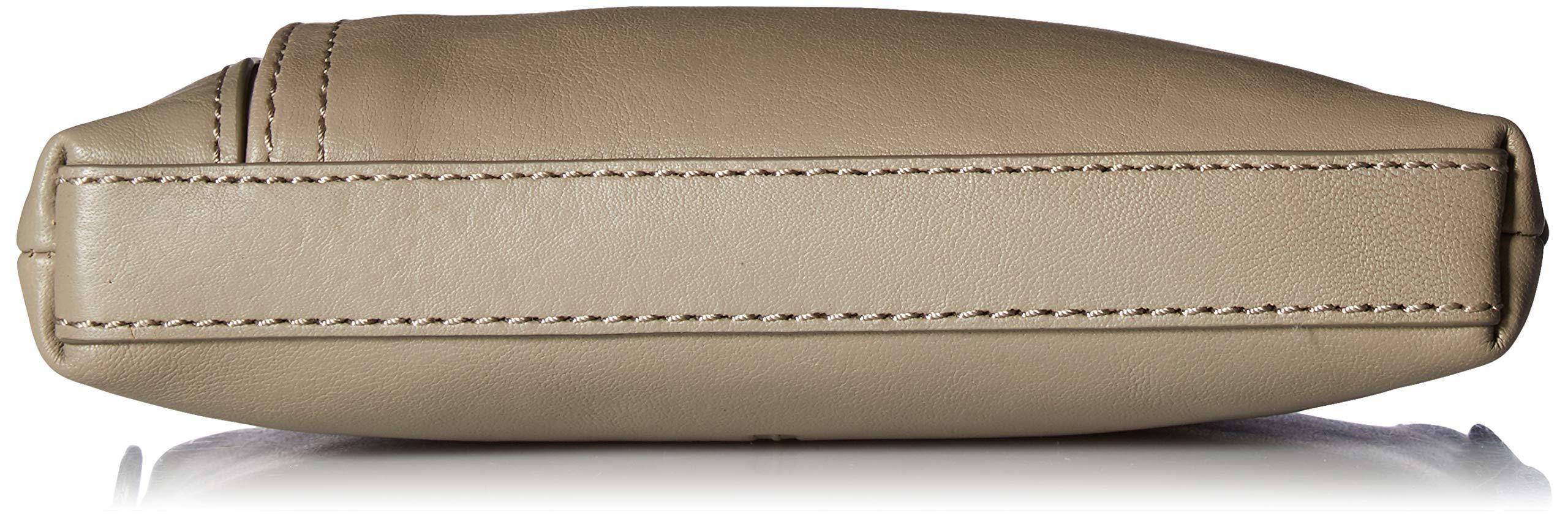 FRYE Lena Zip Leather Crossbody Wristlet Bag, grey by FRYE (Image #4)