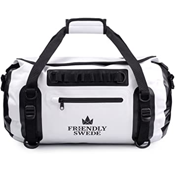 The Friendly Swede Bolsa Impermeable - Mochila Duffel con Roll-Top - Bolsa estanca 35L, Costuras soldadas, PVC ecológico, Correas ergonómicas - ...