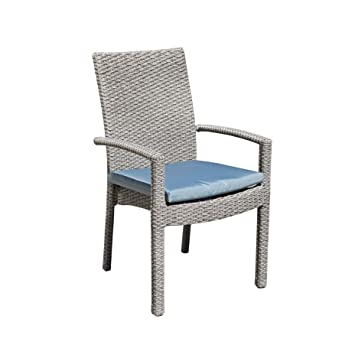 chaise empilable coussin