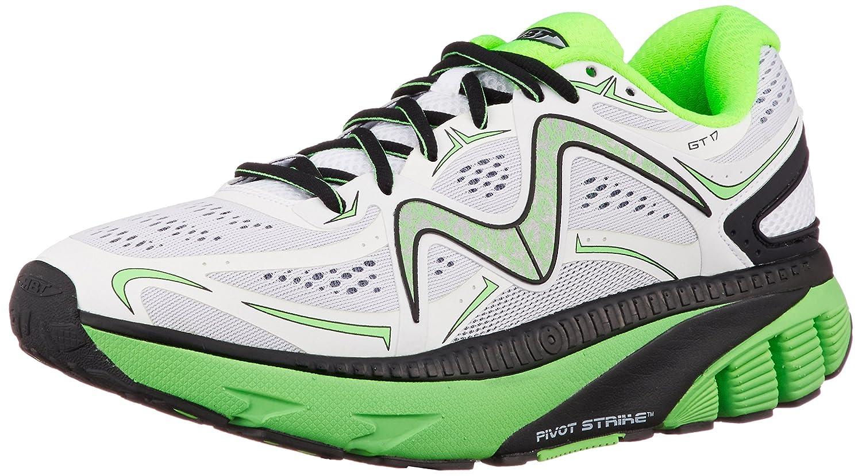 MBT Shoes Men's GT 17 Athletic Shoe Leather/Mesh Lace-up 10.5 Medium (D) US Men White/Green/Black