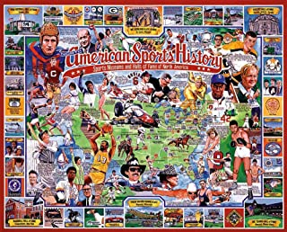 product image for White Mountain Puzzles American Sports History, 1000 pieces