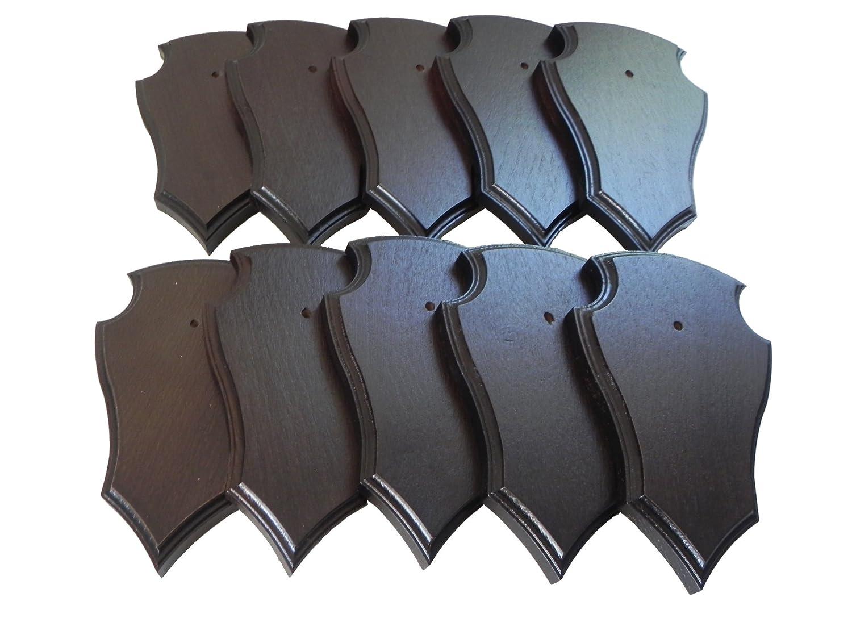 10x trofeo carteles con punta en roble marrón oscuro