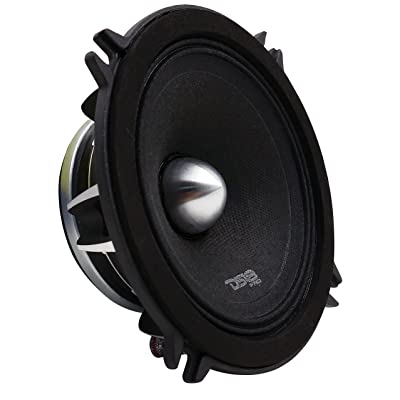 "DS18 PRO-FR5NEO Loudspeaker- 5.25"", Full-Range, Silver Aluminum Bullet, 400W Max, 200W RMS, 4 Ohms, Neodymium Magnet - The Most Elegant Neodymium Full Range Loudspeakers Available"